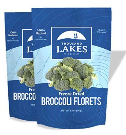 freeze dried broccoli: Thousand Lakes Freeze Dried Fruits and Vegetables - Broccoli Florets