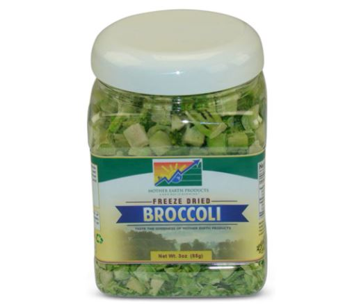 freeze dried broccoli: Mother Earth Products Freeze Dried Broccoli