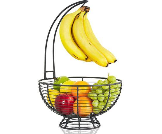 banana Keeper: Regal Trunk & Co. Large Fruit Basket With Banana Hanger